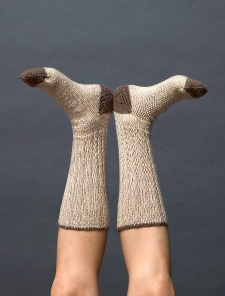 Plassard 160 24 Tvåfärgade sockor