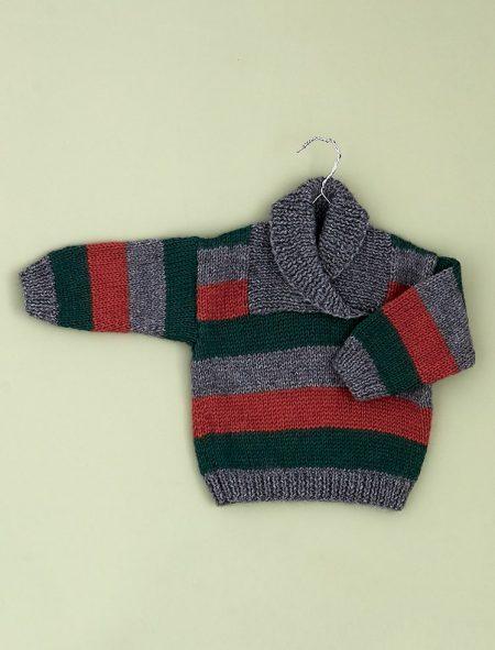 Plassard 161 44 Randig tröja med sjalkrage
